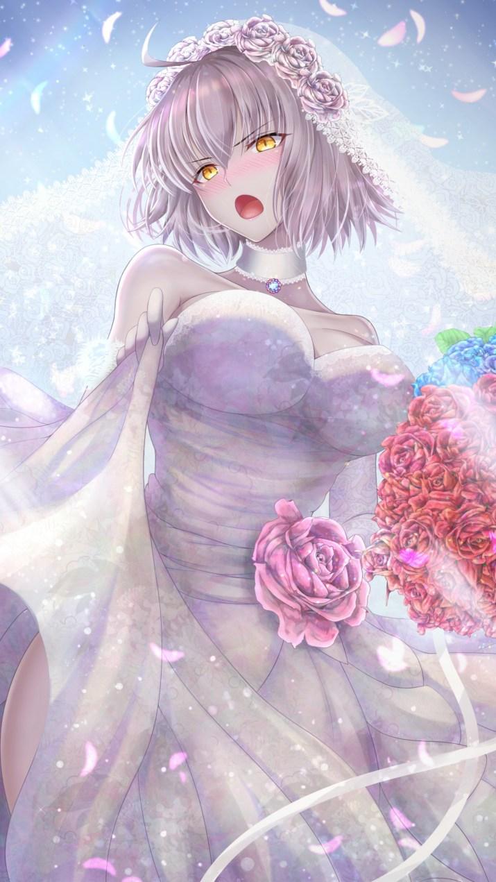 """Wedding dress"" Jeanne Alter [Fate/Grand Order] (2250×4000)"