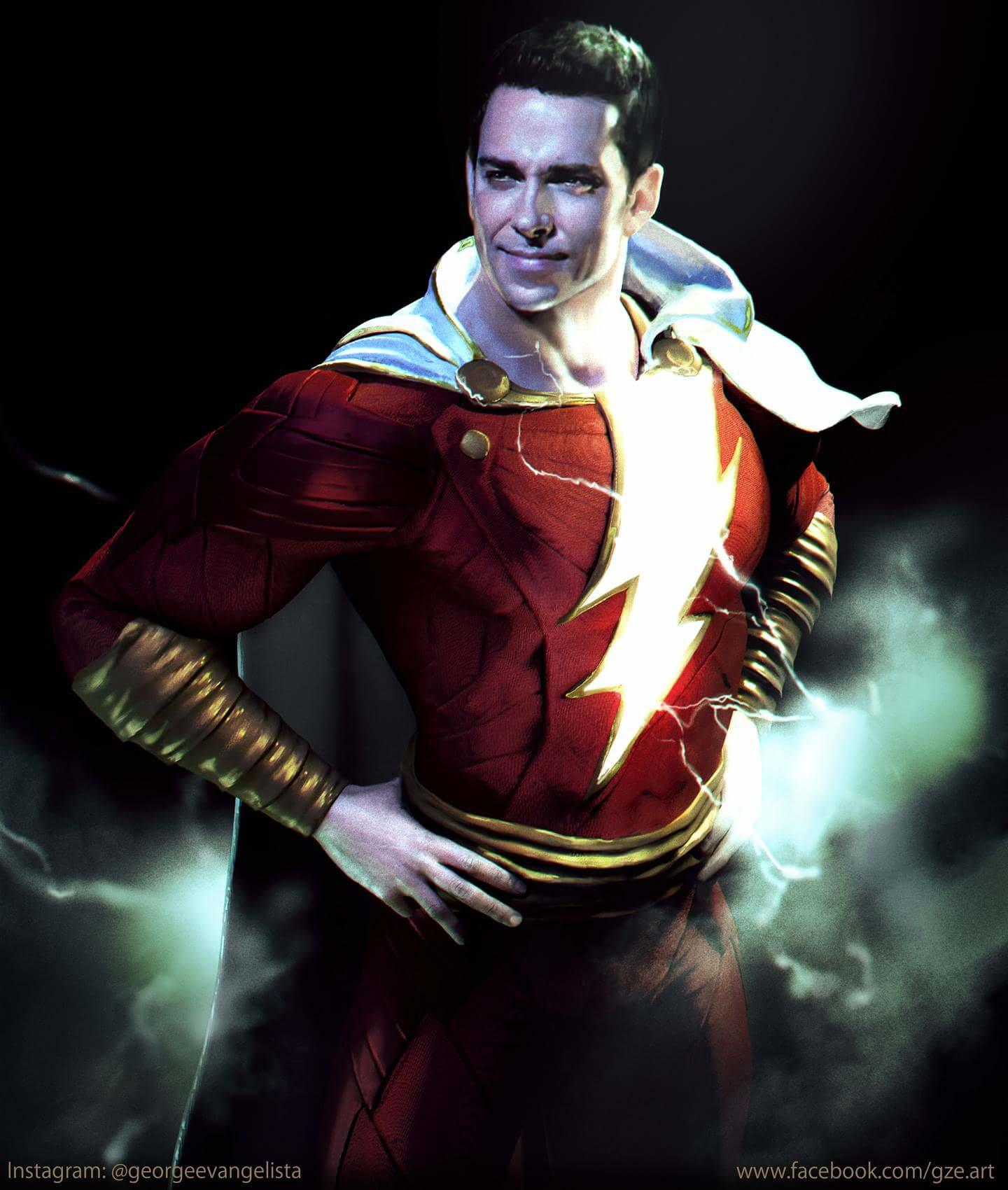 Falling In Reverse Live Wallpaper Zachary Levi As Shazam By George Evangelista Dccomics