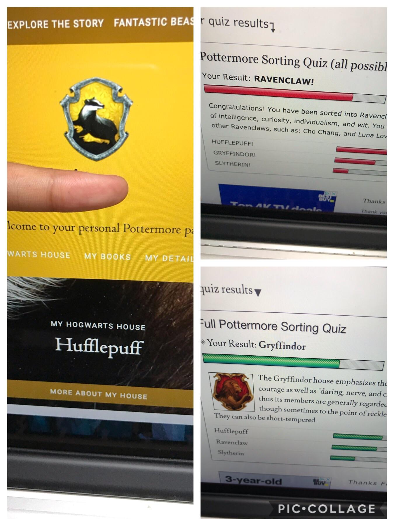 Pottermore House Quiz Full : pottermore, house, House, Three, Different, Results..., Pottermore