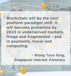 blockchain is the new internet says singapore internet visionary wong toon king what do you think  [ 2319 x 1582 Pixel ]