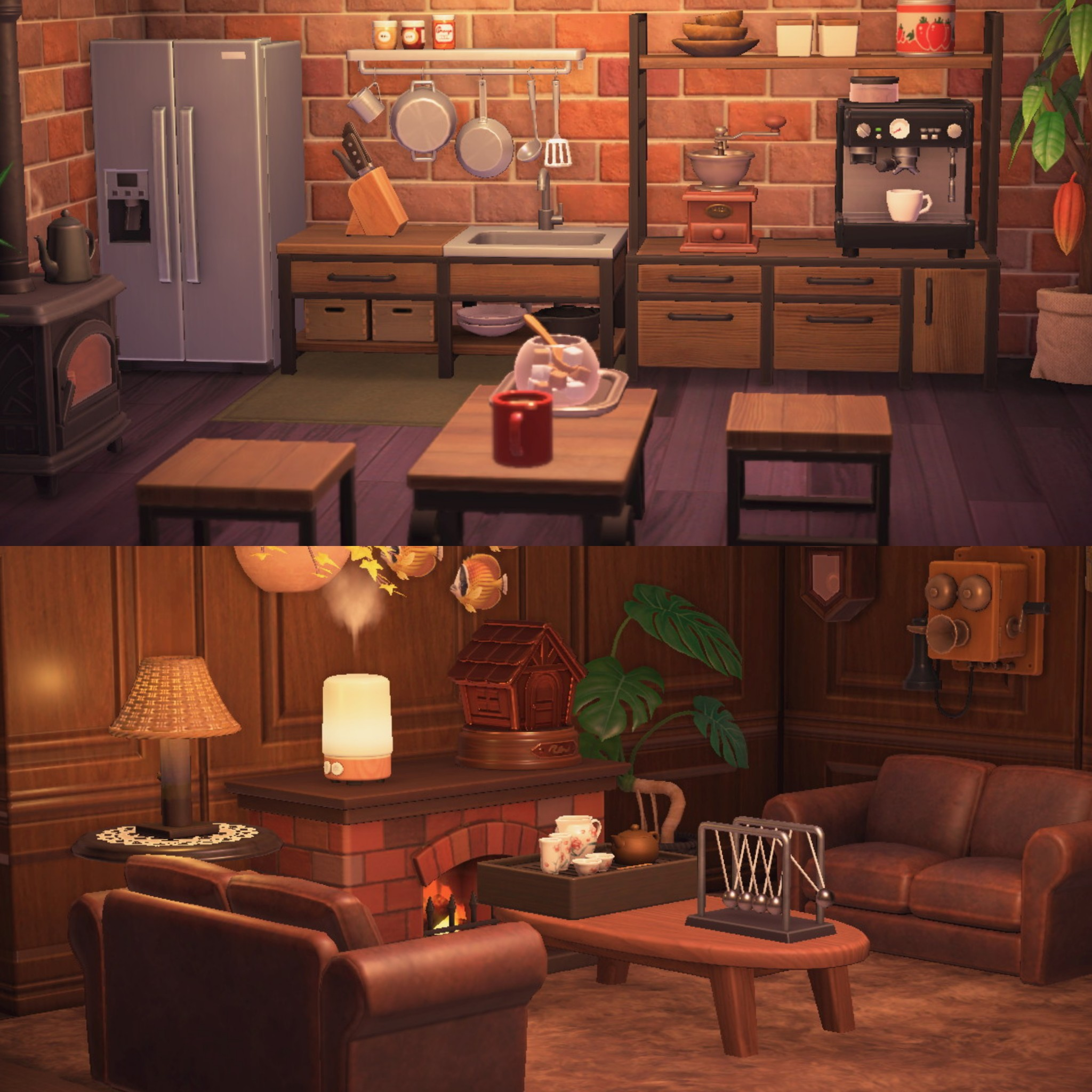 Quite Happy With How My Kitchen And Living Room Is Now Animalcrossing