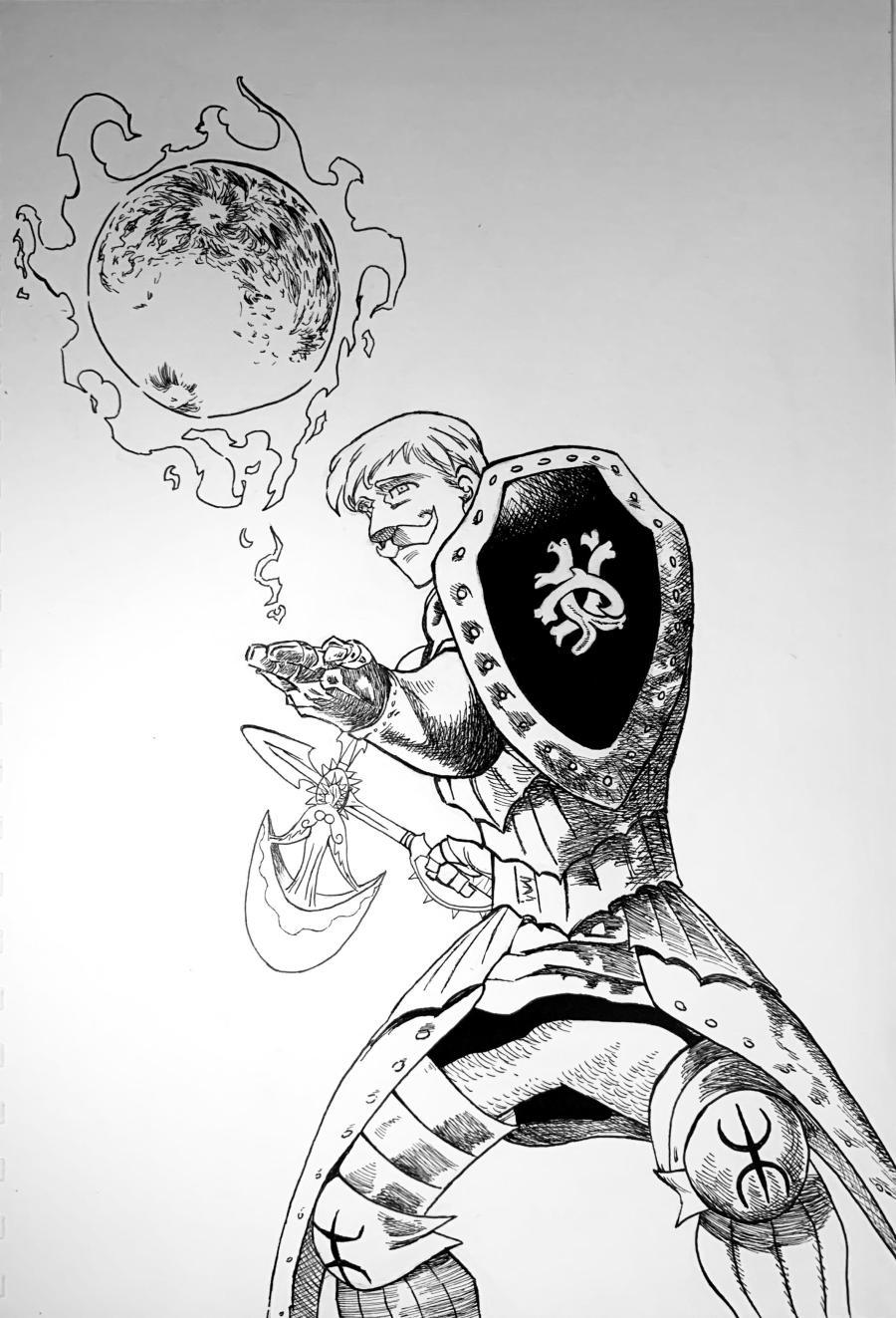 Nanatsu no taizai Escanor drawing, his Sunshine is stronger than ever!