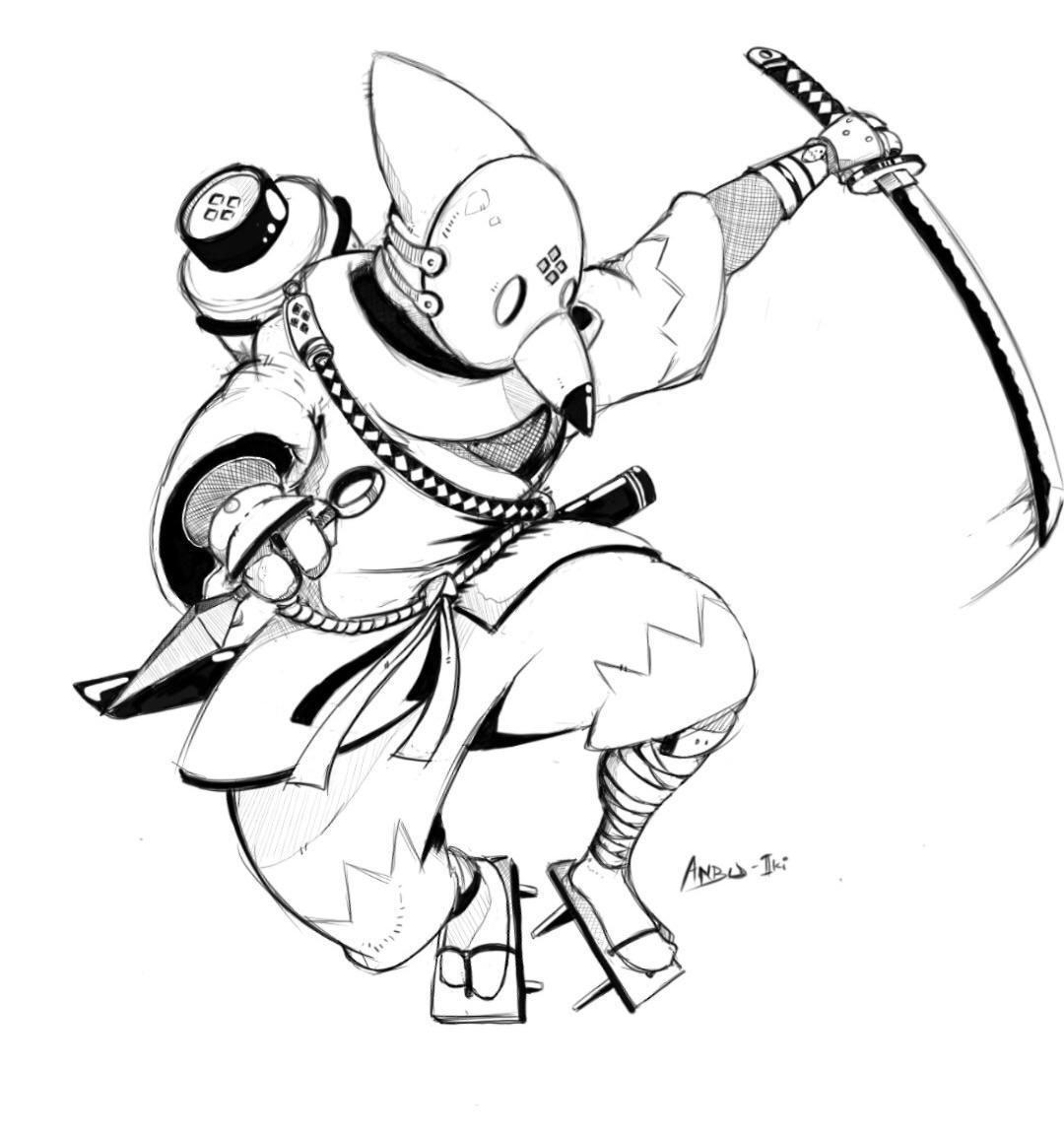 Artwork: My original Anbu : Naruto
