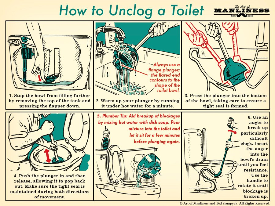How to unclog toilet like a plumber  coolguides