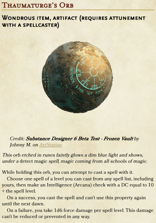 D D Glowing Orb D&d 5e features a lot of builds. d d glowing orb