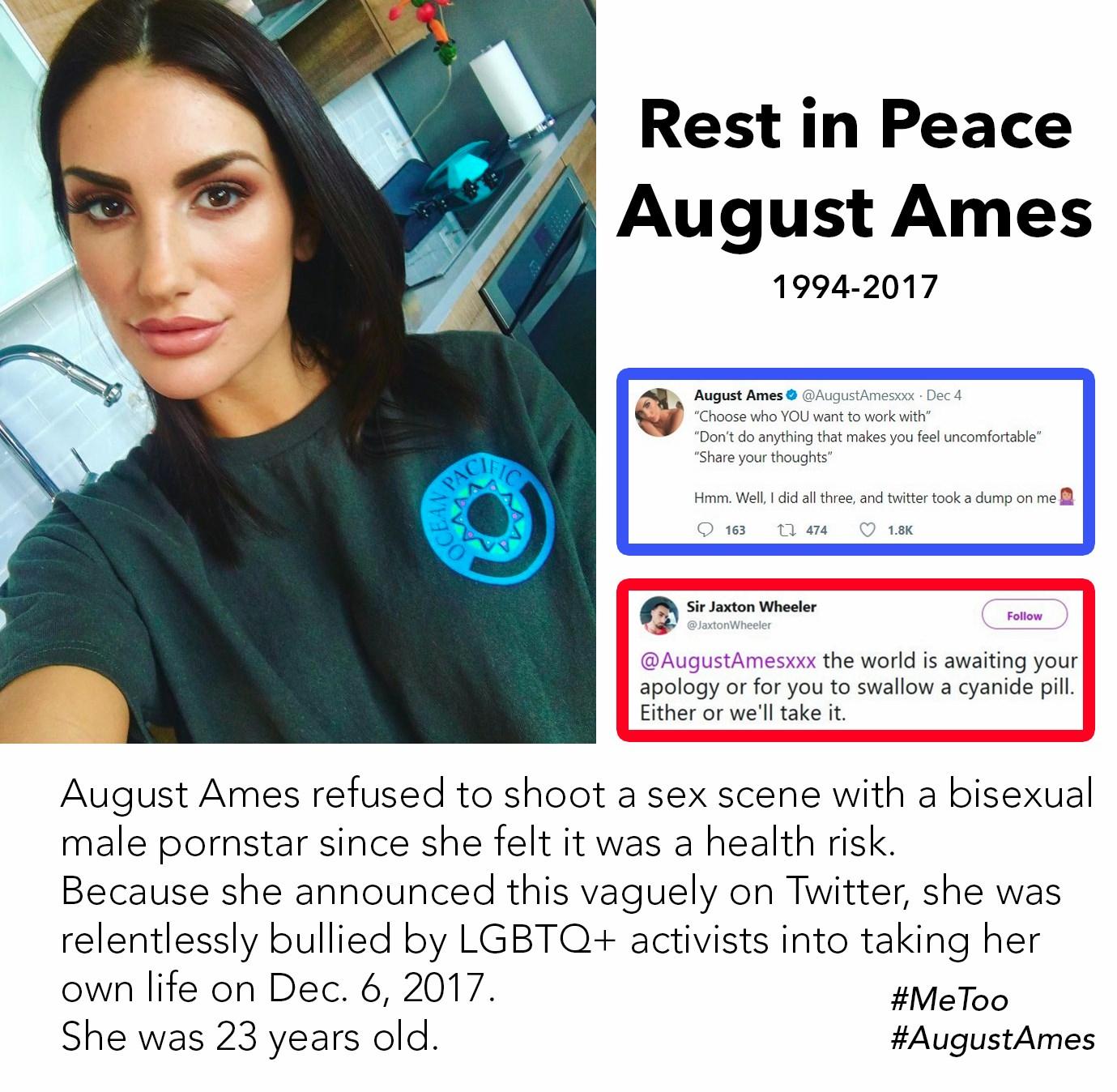 RIP August Ames (1994 - 2017) : Kappa
