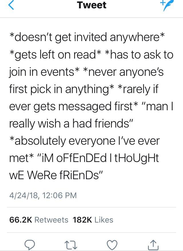 Tweets About Fake Friends : tweets, about, friends, Friends, WhitePeopleTwitter