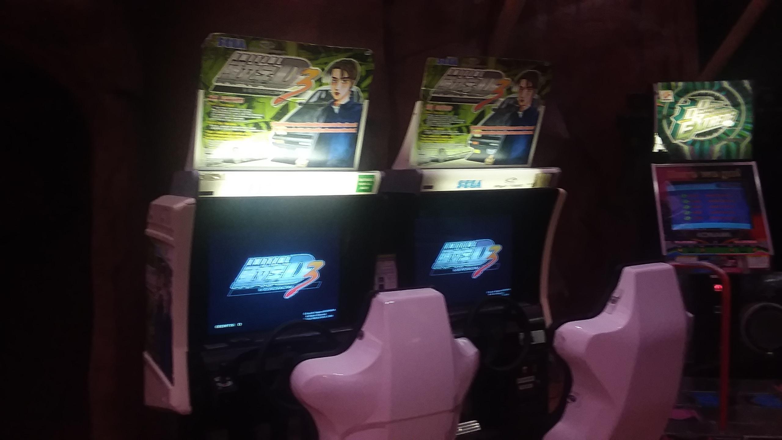 initial d arcade machines