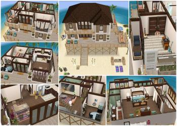 Finished my Island Villa house! Inspired by a Make2 design : : simsfreeplay