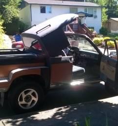customstrange extended cab convertible stepside 83 toyota pickup i spotted on craigslist link in comments i redd it  [ 1200 x 674 Pixel ]