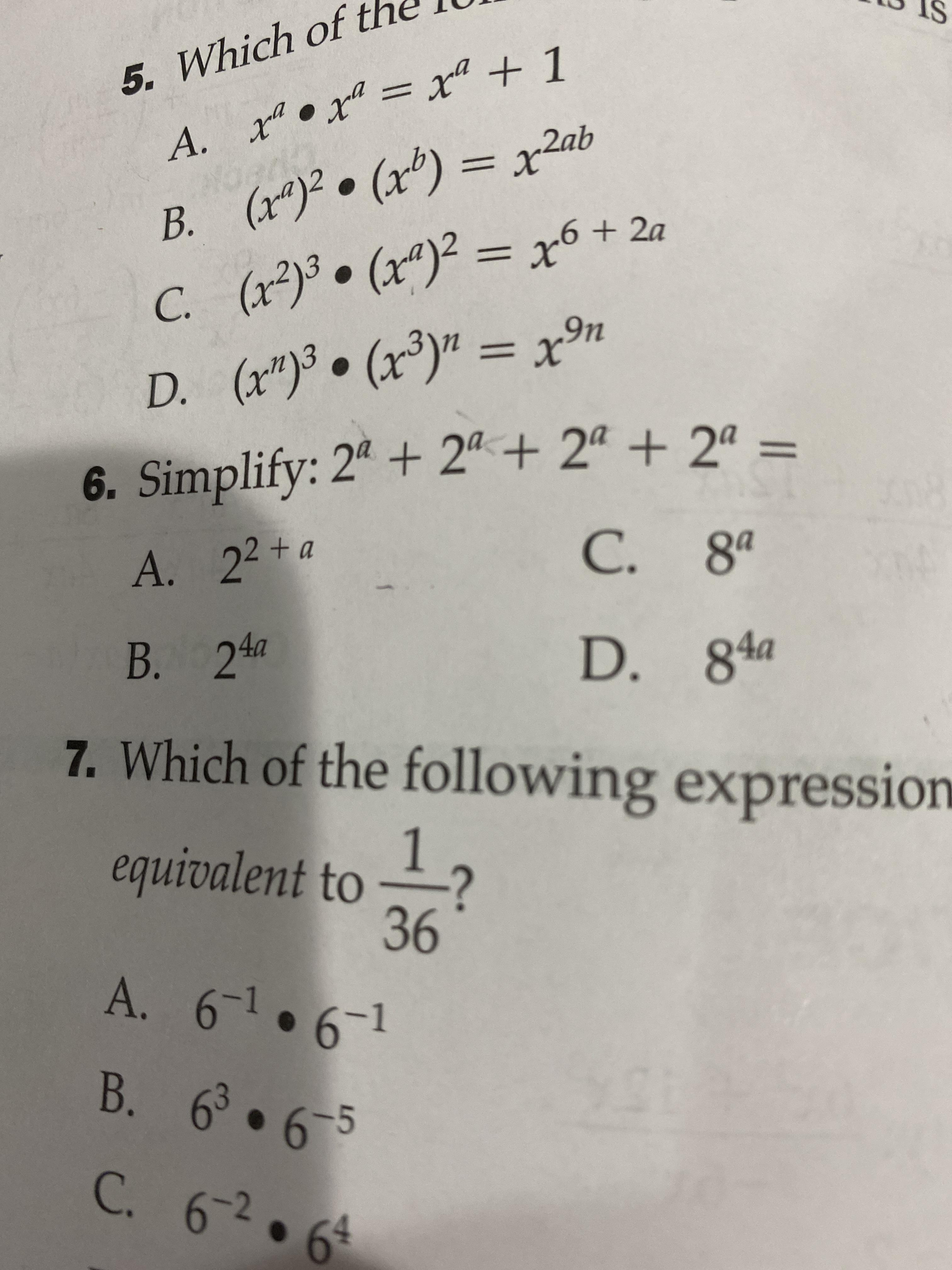 9th Grade Algebra 1 This Problem Is Confusing Me Number