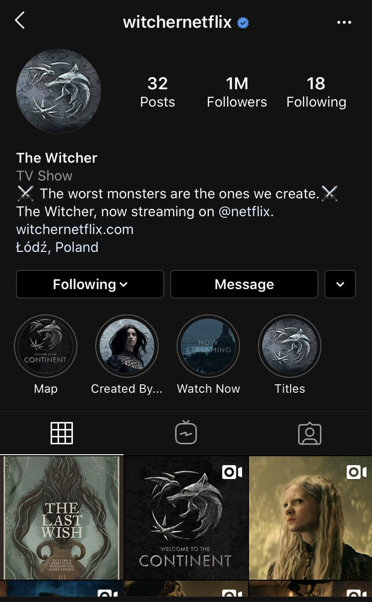 The Witcher Netflix Streaming : witcher, netflix, streaming, Netflix, Series, Instagram, Account, Million, Followers, Witcher