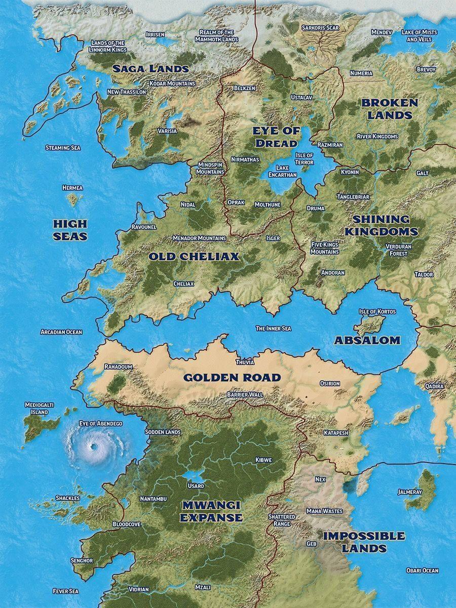 Golarion Map Pathfinder : golarion, pathfinder, World, Omens!, Pathfinder2e