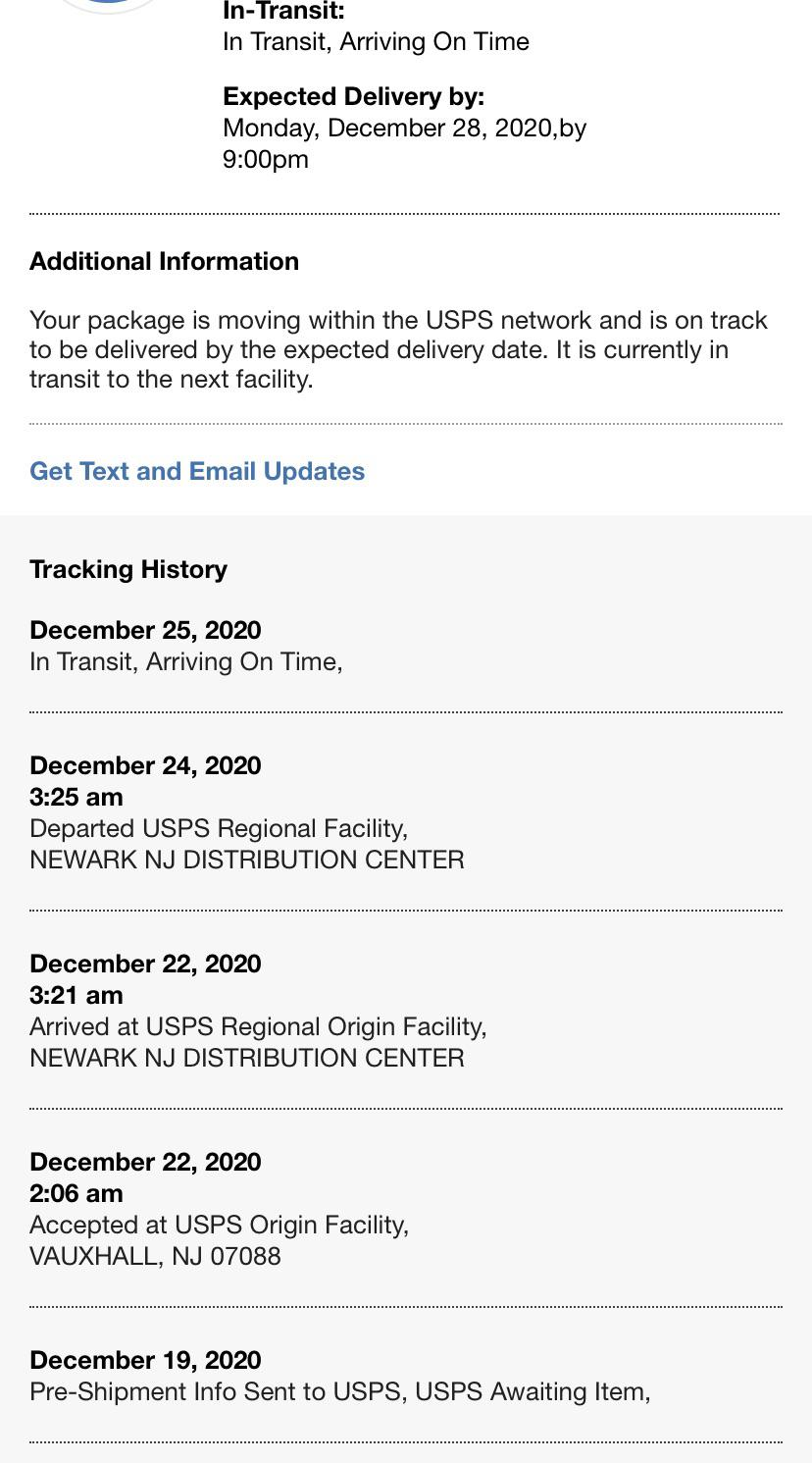 Does Usps Have Live Tracking : tracking, Anybody, Package, Going, Through, Relatively, Quick, Processing, Speed?, Especially, They're, Probably, Operating, LIFO,, Packages, Ordered, 12/15-18, Their, Fairly