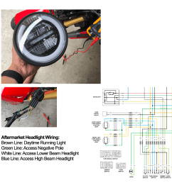 help aftermarket headlight led wiring for sf grom 2017  [ 2560 x 2560 Pixel ]