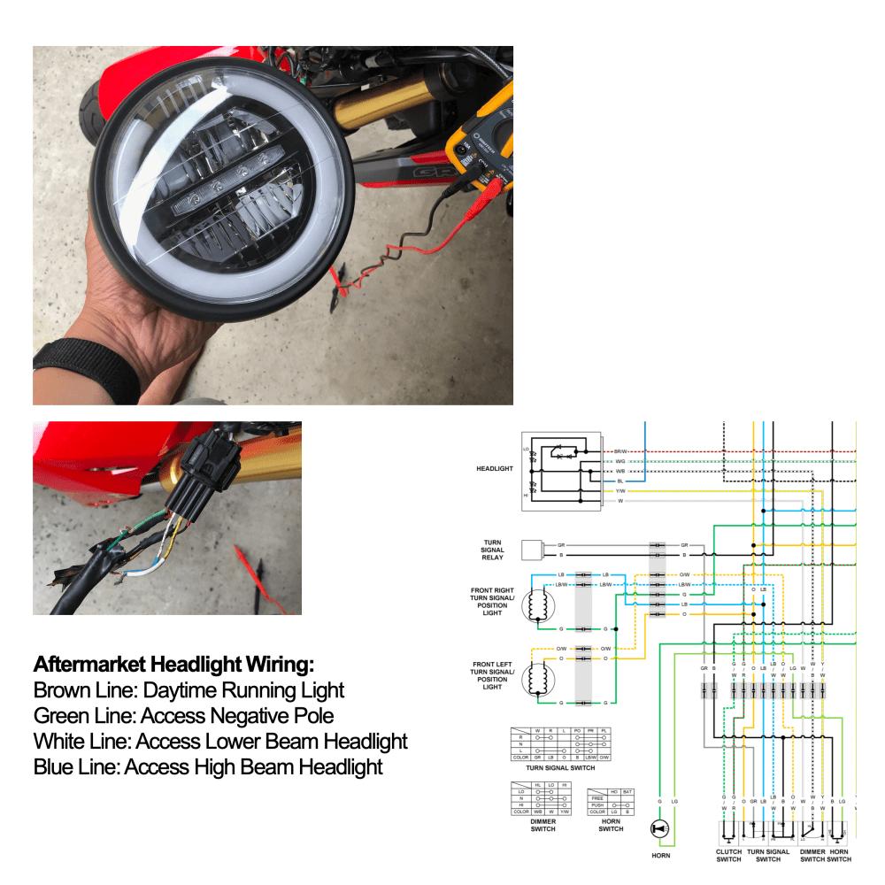 medium resolution of help aftermarket headlight led wiring for sf grom 2017