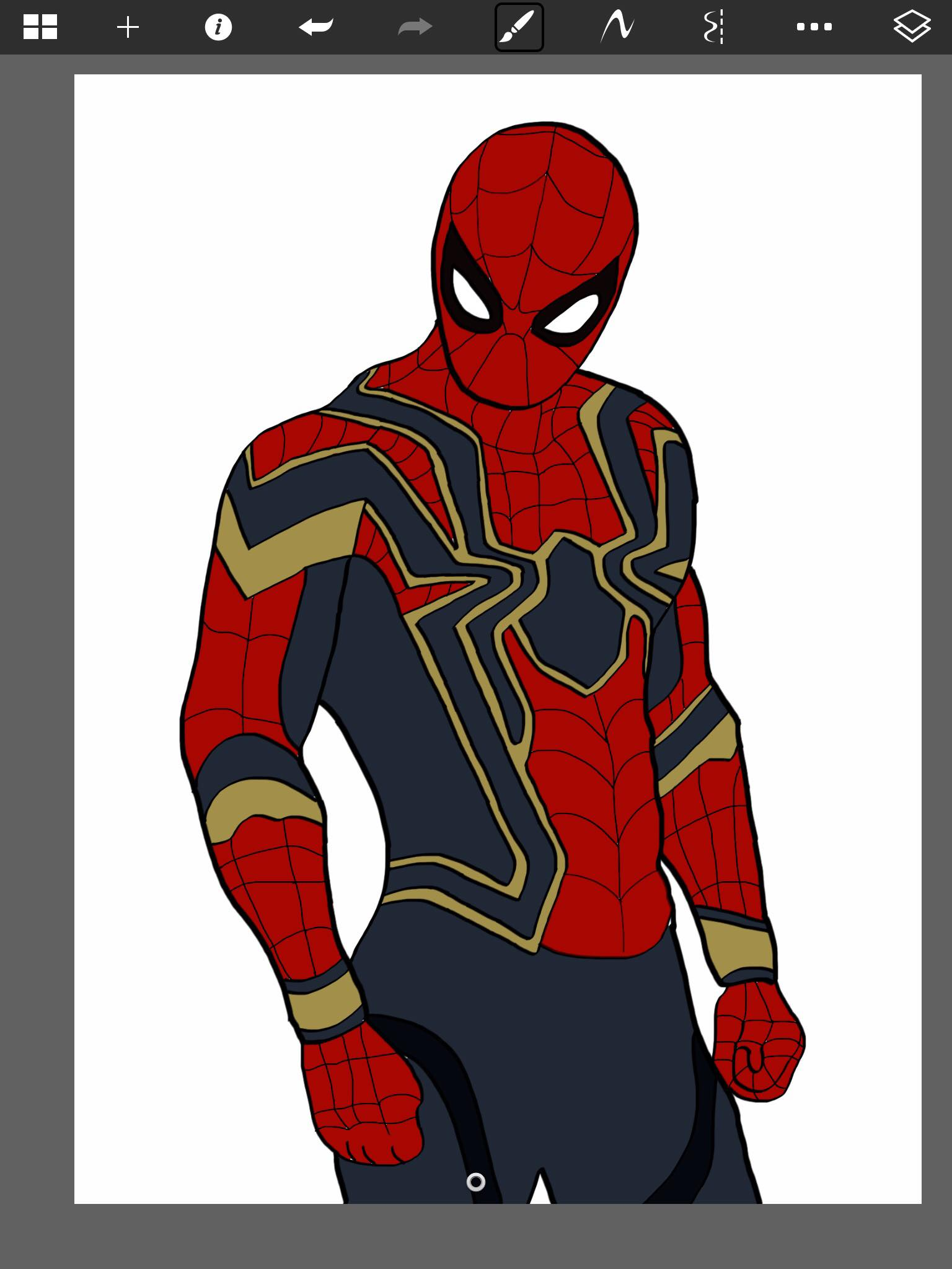 Spider Man Suit Drawing : spider, drawing, Digital, Drawing, Spider, Suit), Spiderman