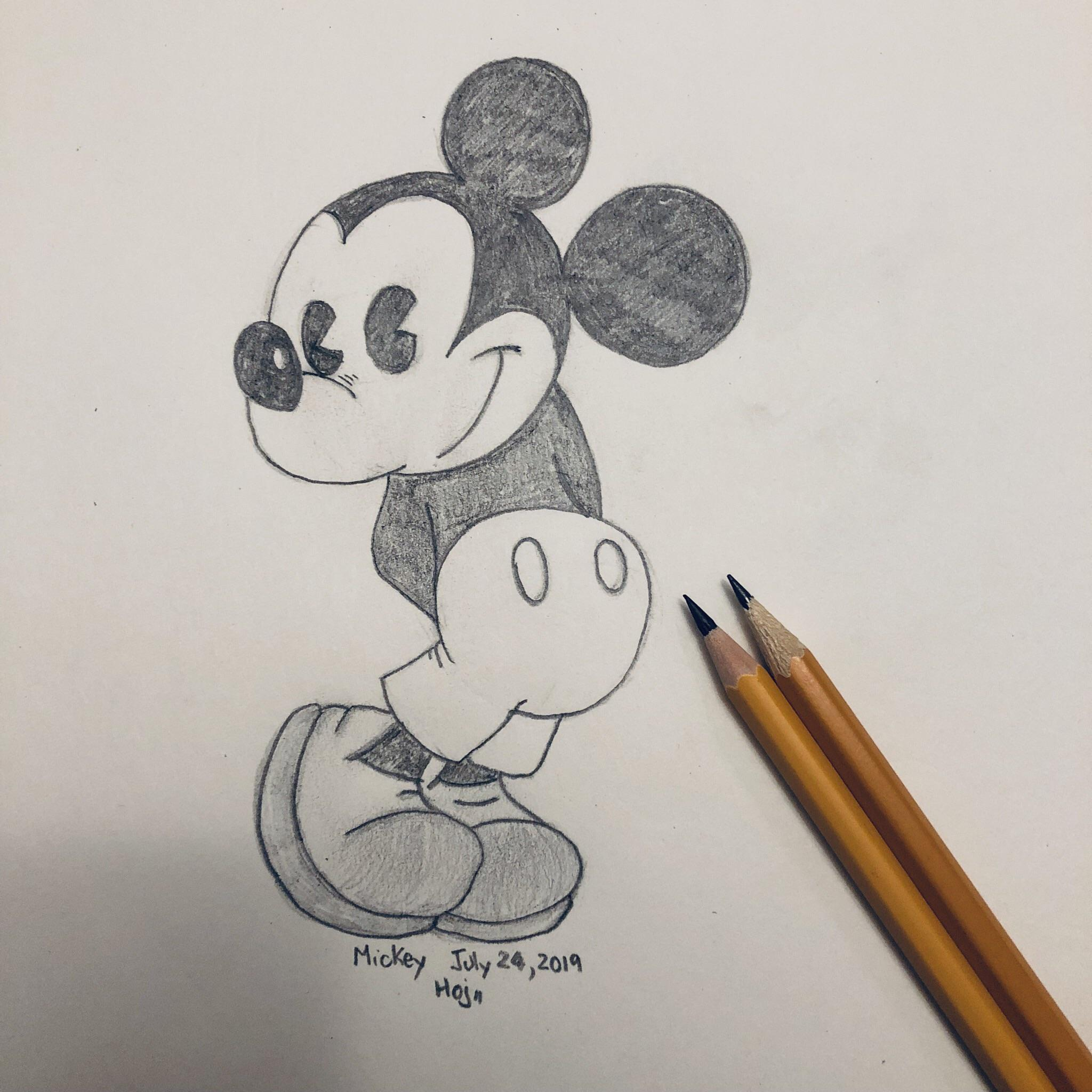Disney Mickey Mouse More Of My Pencil Sketches Of My Kids Favourite Cartoon Characters Sketches