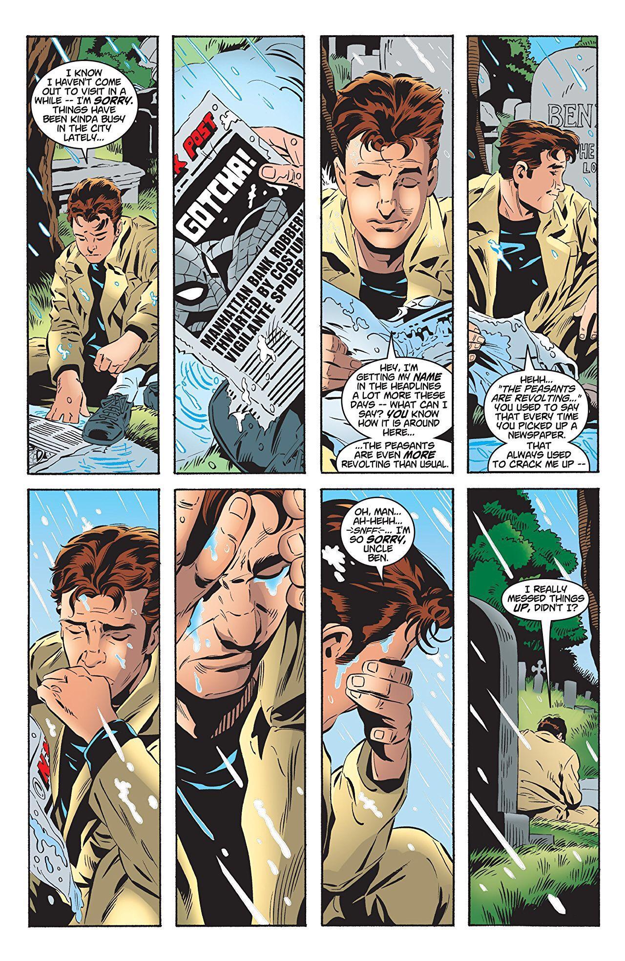 Ben Parker Grave Spider Man Ps4 : parker, grave, spider, Peter, Parker, Visiting, Uncle, Ben's, Grave., Spiderman