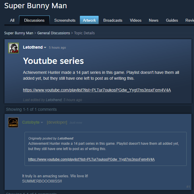 super bunny man developers