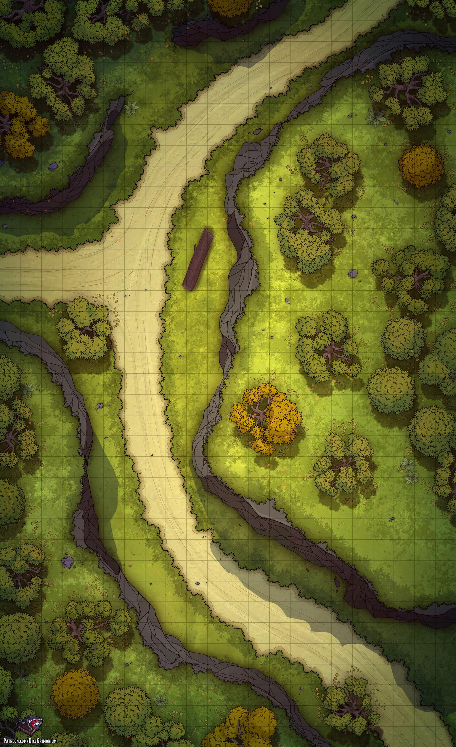 Forest Dnd Map : forest, Forest, Battle, 22x36, Roll20