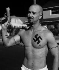 Edward Norton American History X Tattoos : edward, norton, american, history, tattoos, Movie, 'American, History, Makeup, Swastika, Tattoo, Edward, Norton's, Chest,, Because, Norton, Doesn't, Actually
