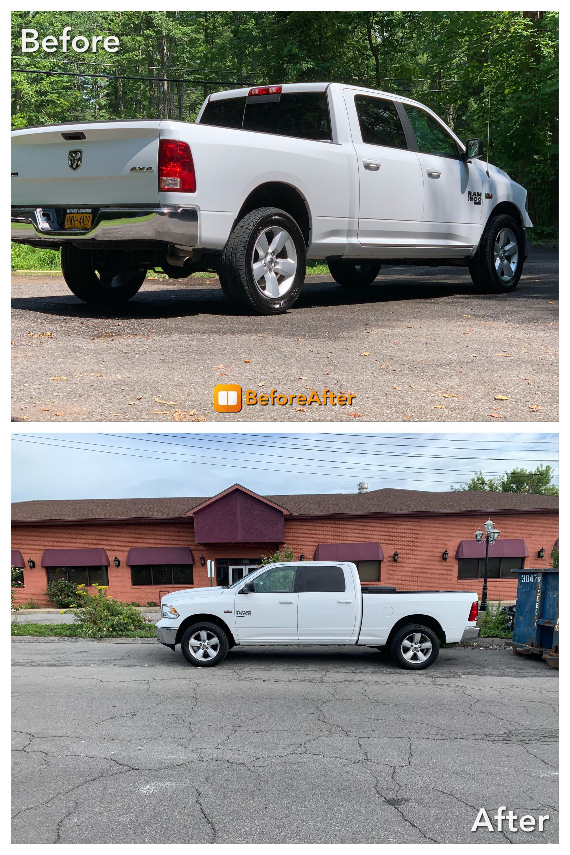 "Lift Kit Before And After : before, after, Classic, Before, After, 2.5"", Leveling, Stock, Pictures, There, Ram_trucks"
