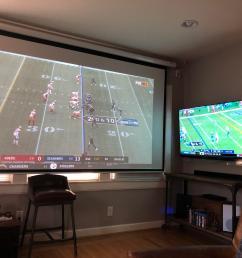 projectorssmall sunday football setup  [ 4032 x 3024 Pixel ]