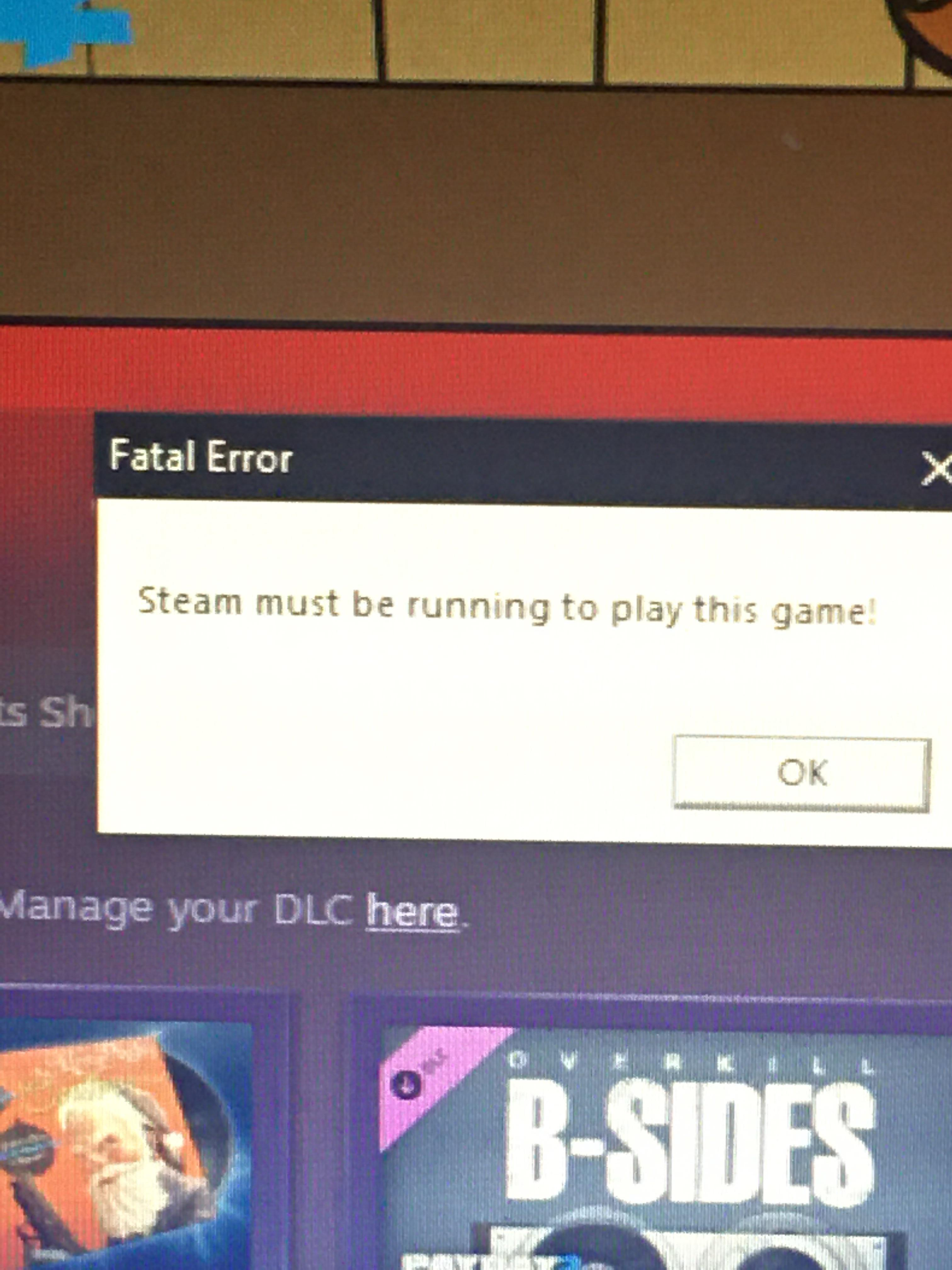 Steam Must Be Running To Play This Game : steam, running, This., Fucking., Error., Running, Steam, Change, Verify, Integrity, Files, God's, Sake., Mildlyinfuriating