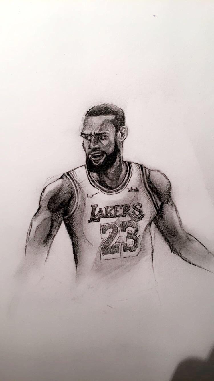 How To Draw Lebron James : lebron, james, Drawing, LeBron, James