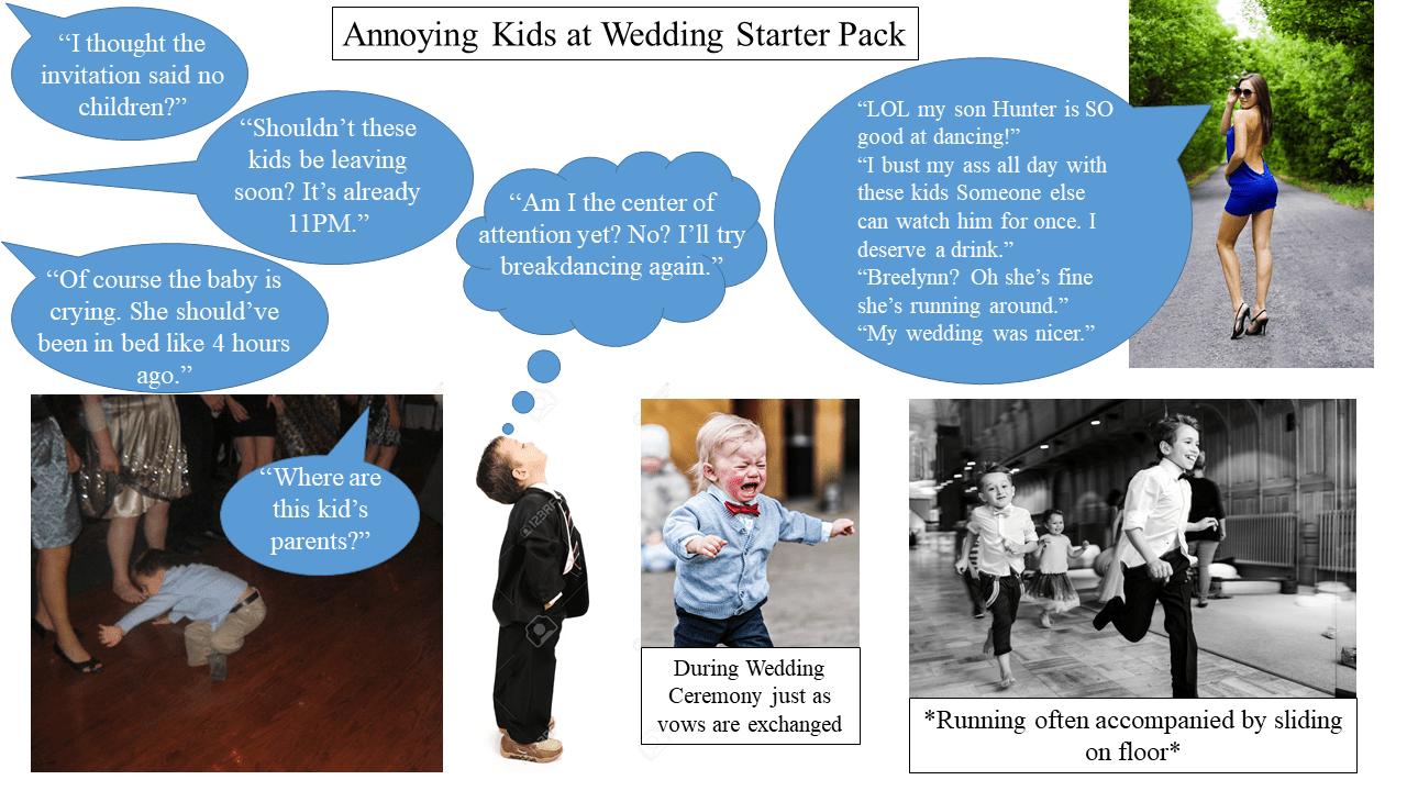wedding chair covers reddit hans wegner shell annoying kids at starter pack starterpacks