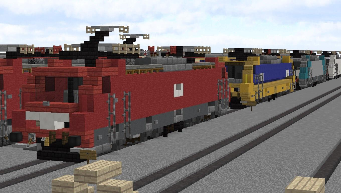 BR186s in different liveries (DB. NS. NMBS. NS Lease) : Minecraft