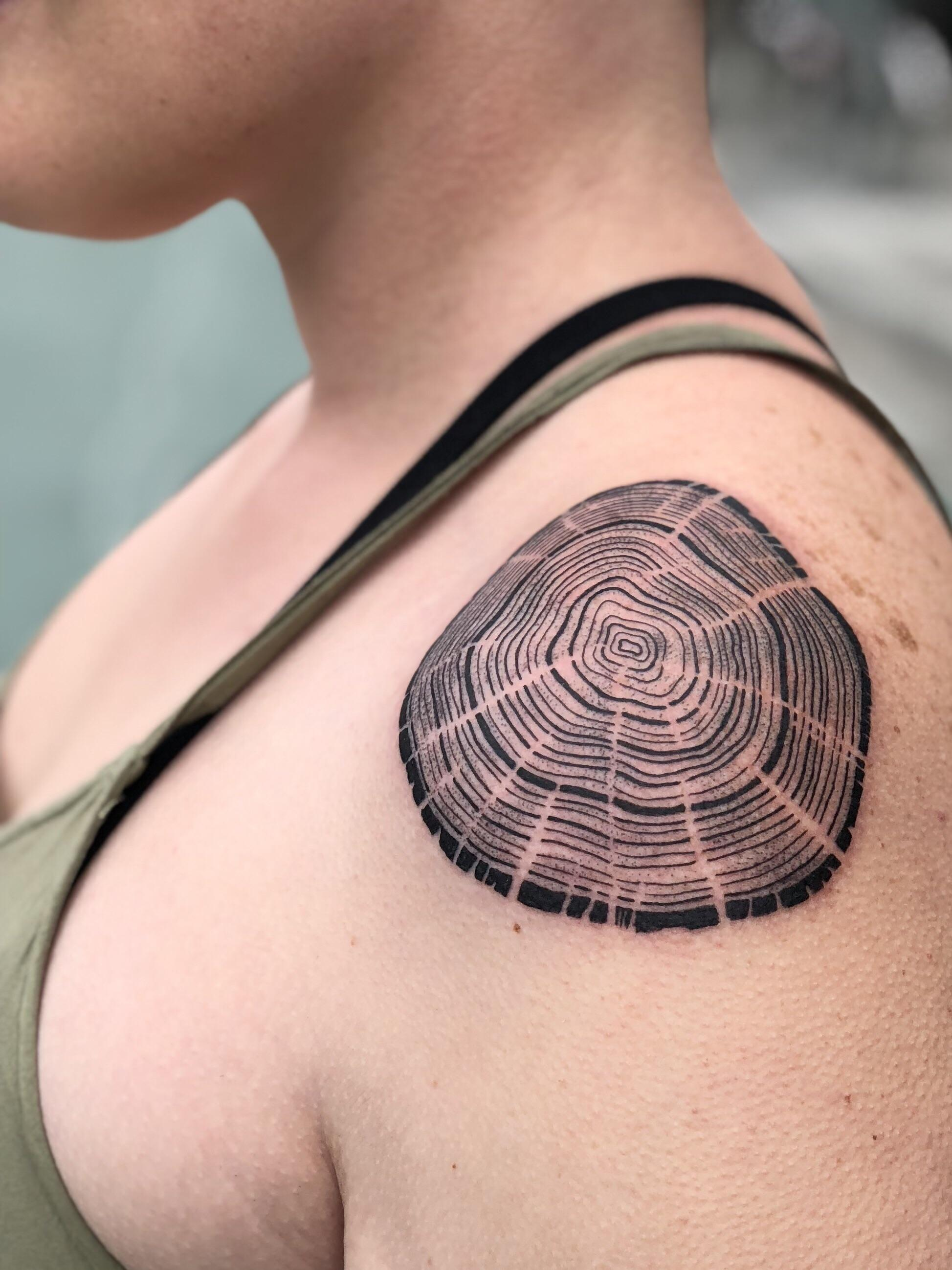 Tree Rings Tattoo : rings, tattoo, Rings, Reynold, Castro, Tattoo, Francisco, Tattoos