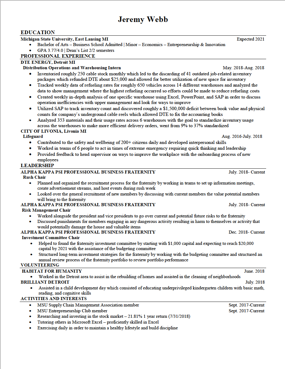 College Sophomore Resume Resume Help For A Sophomore In College Resumes
