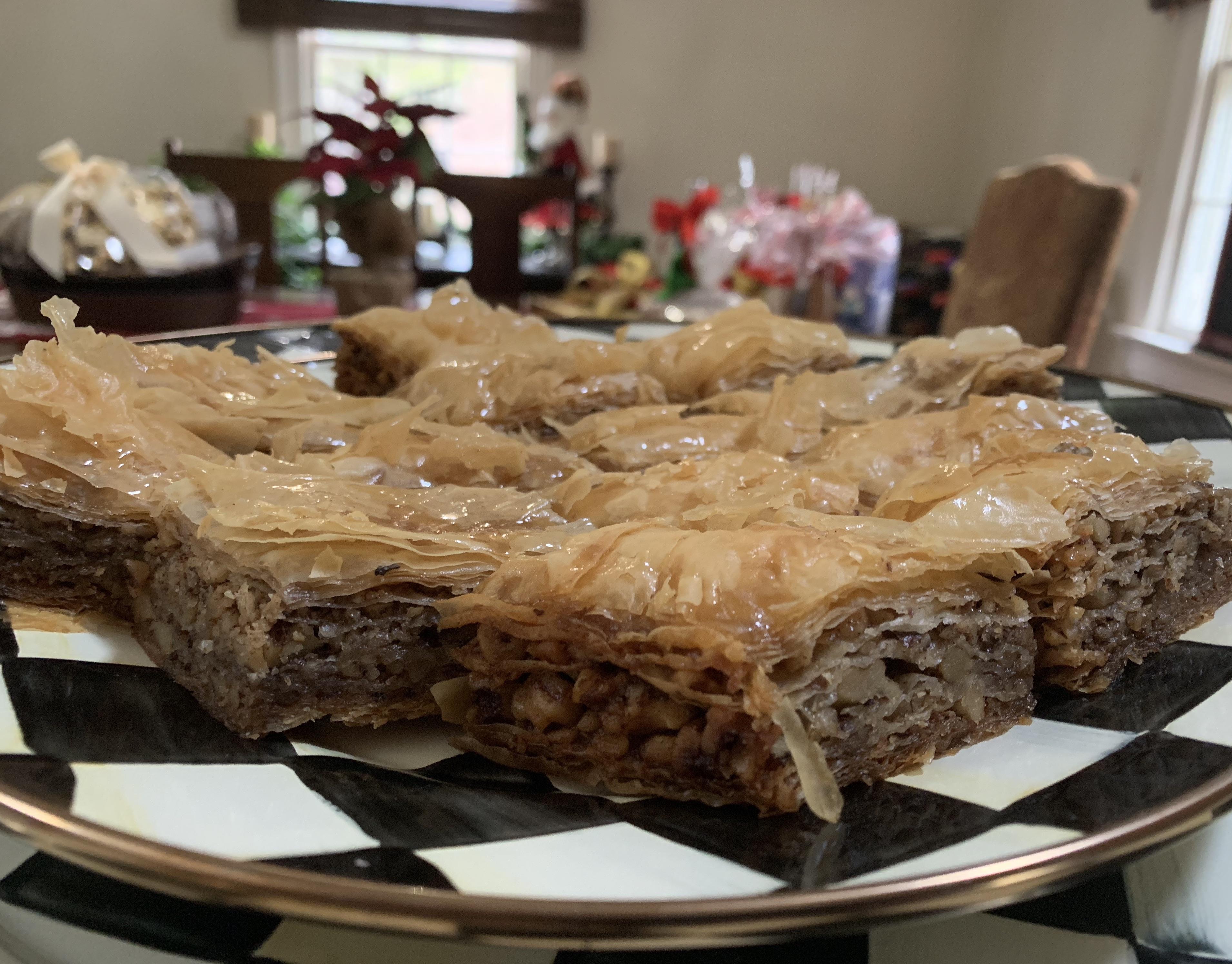 homemade baklava food