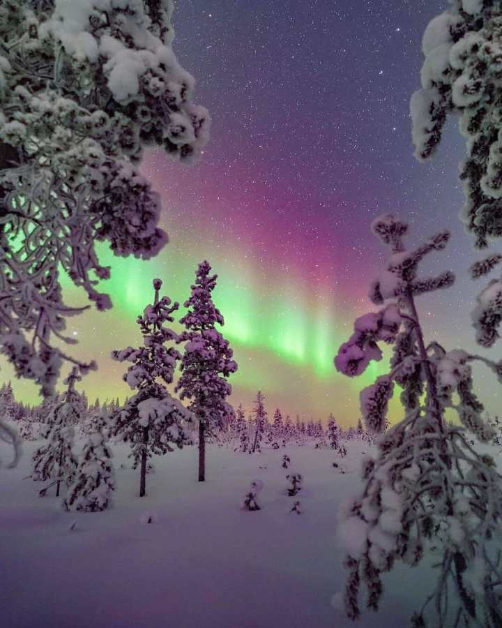 Northern lights in Lapland, Finland
