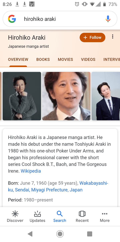 Paling Laju Hirohiko Araki Age