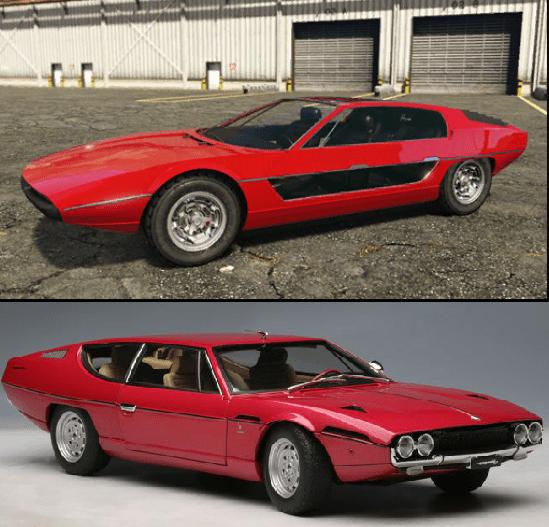 New car TOREADOR is so similar to a Lamborghini Espada : gtaonline, Top 5 vehicles in GTA Online in 2021