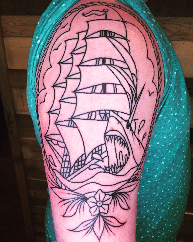 Maiden Voyage Tattoo : maiden, voyage, tattoo, Pretty, Start, Megalodon, Tattoo!, Davis, Maiden, Voyage, Tattoos, Peoria,