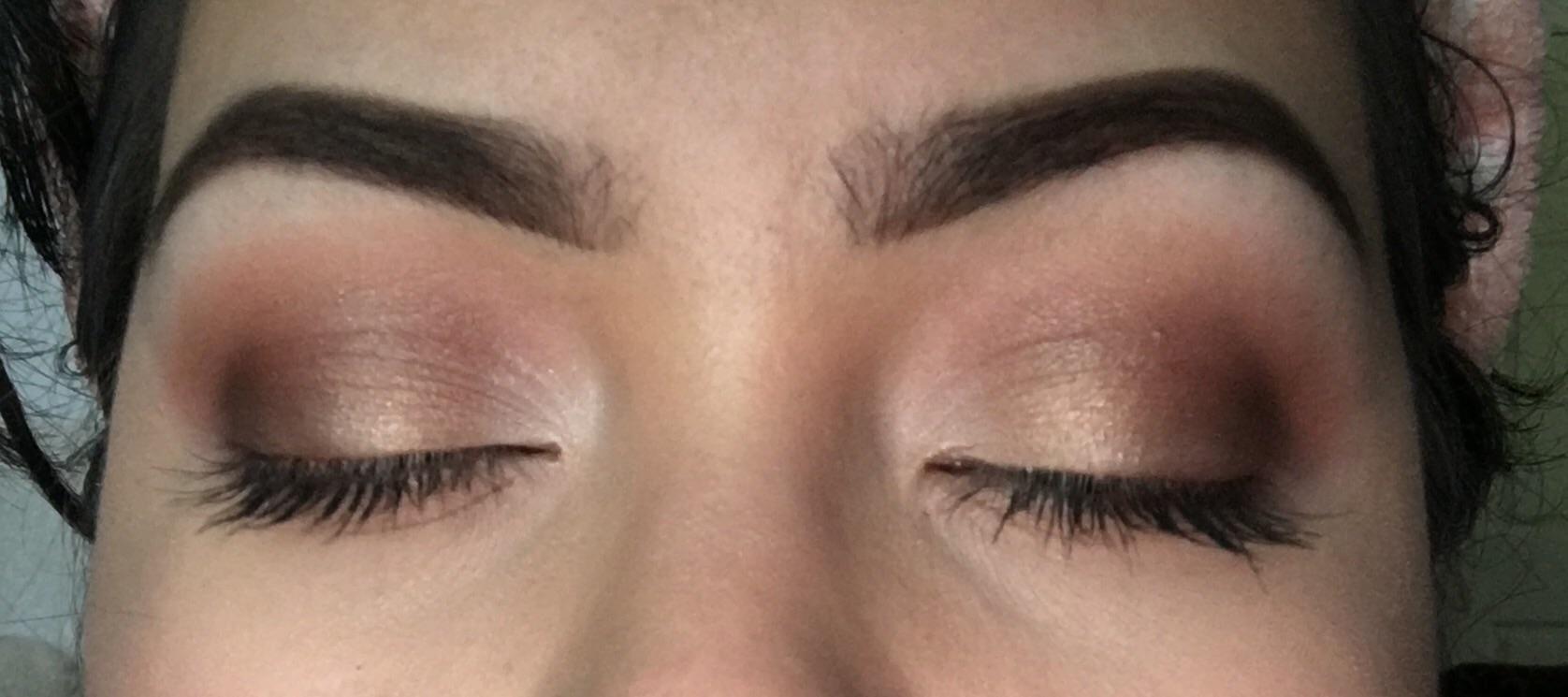 created an eye look