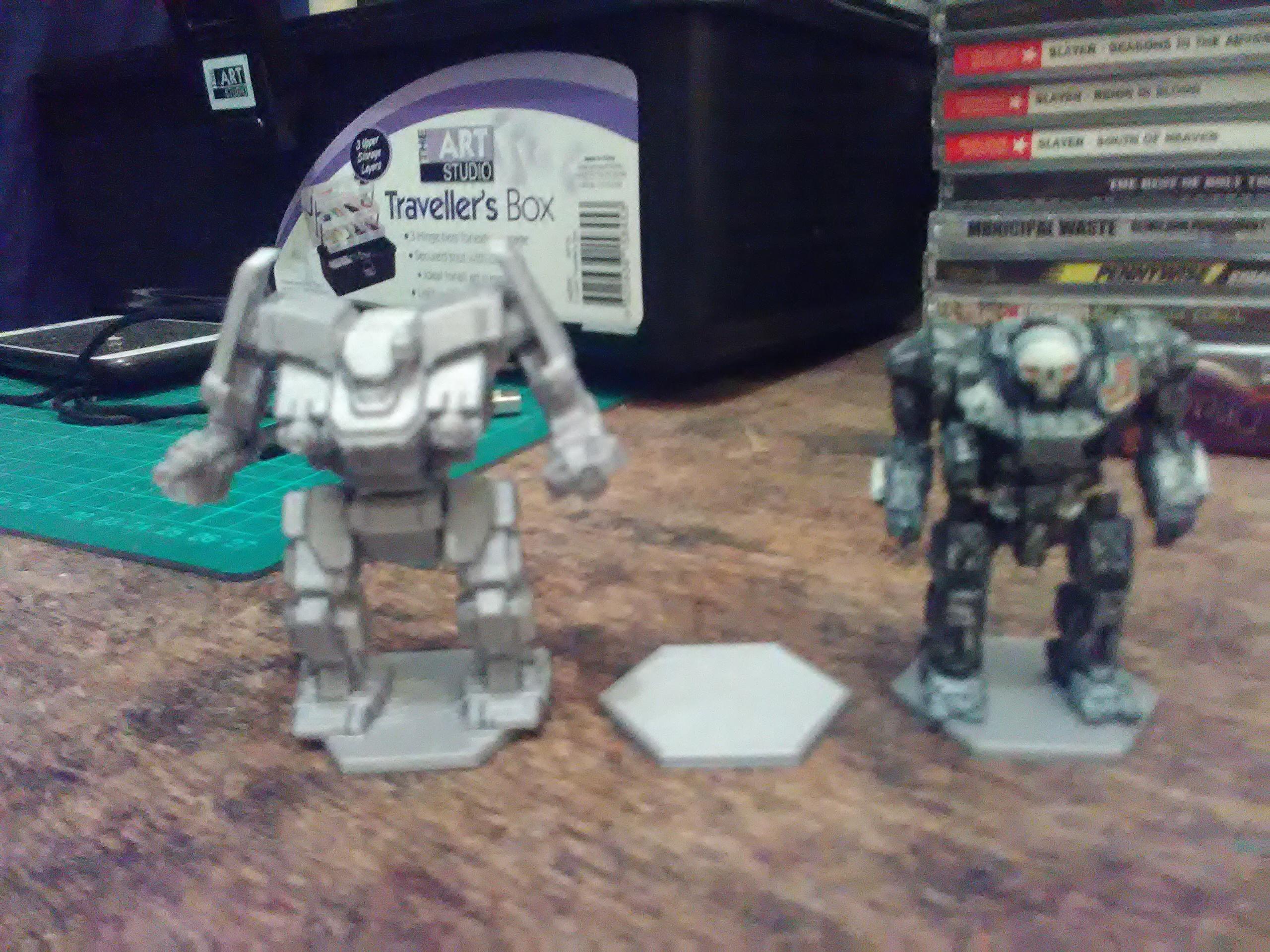battletech miniature sizes 3d