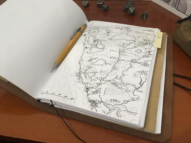 OC][ART] I did a DM Notebook with map of Sword Coast : DnD