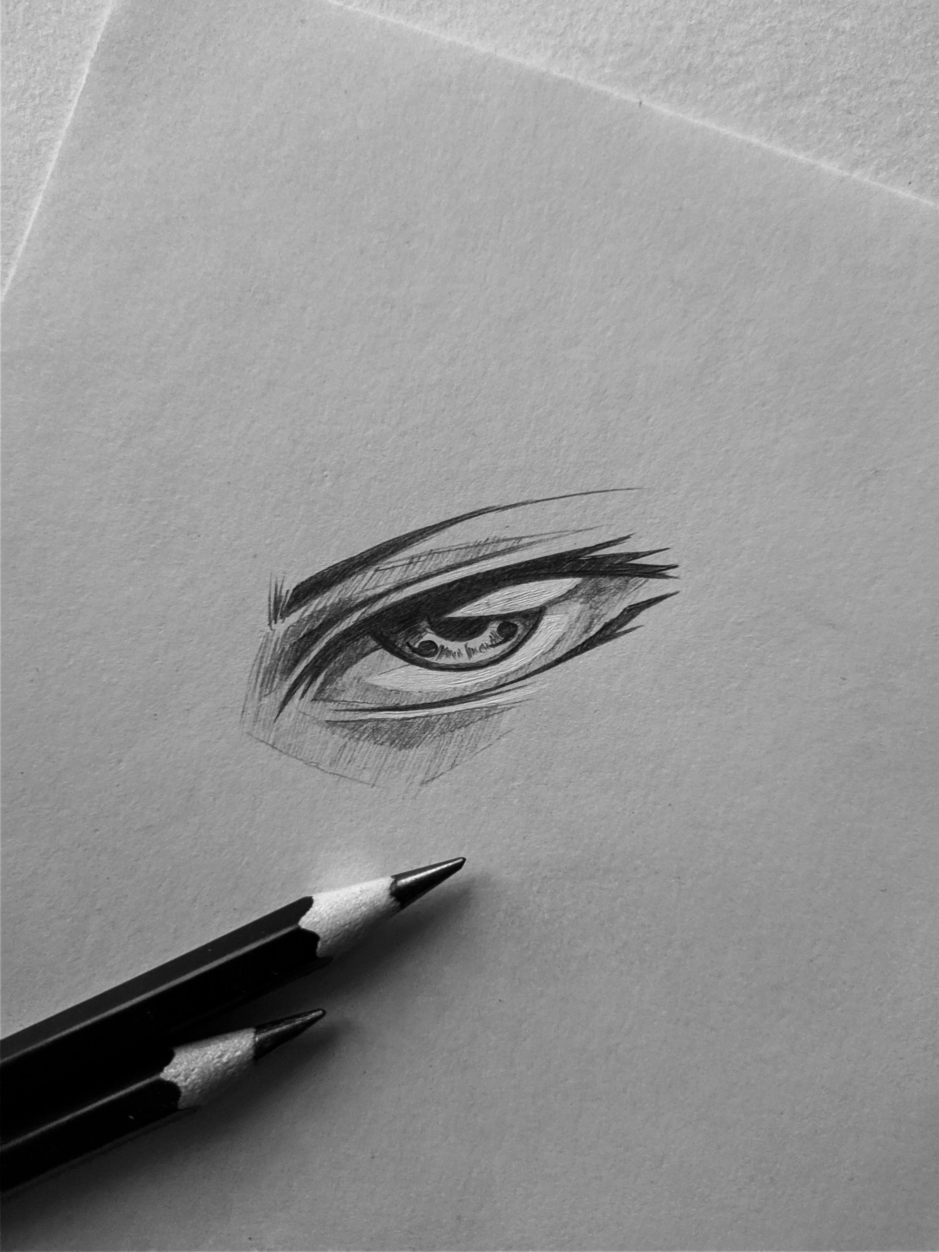 Sharingan Eye Drawing : sharingan, drawing, Sharingan, Sketch, Naruto