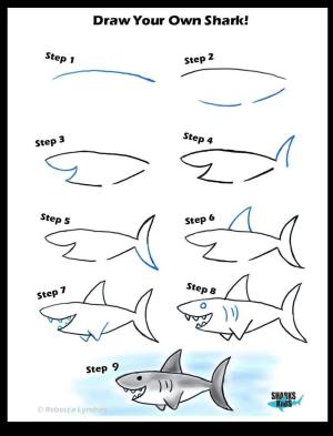 shark draw easy steps drawing drawings learn kindergarten reddit try directed prompt practice daily boy mooneyisms fish coolguides kindermooney статьи