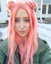 peachy arctic fox hair color