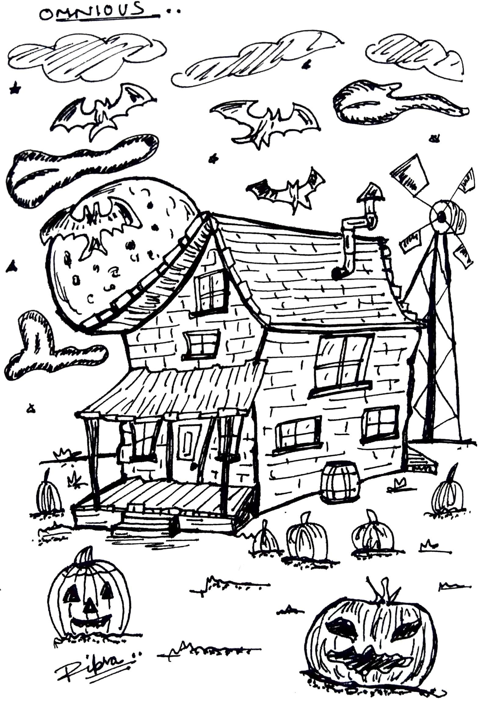 Courage The Cowardly Dog House : courage, cowardly, house, Halloween, 🎃...., Courage, Cowardly, Dog's, House, Ripsa, Sketches