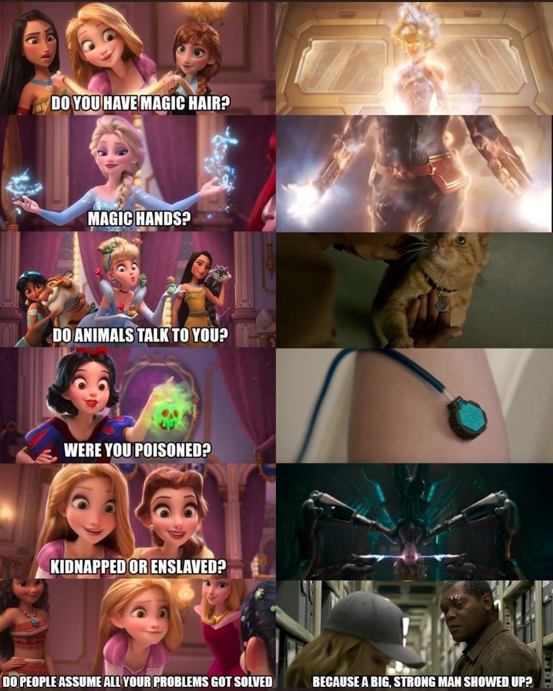 captain marvel is disney princess : marvelstudios