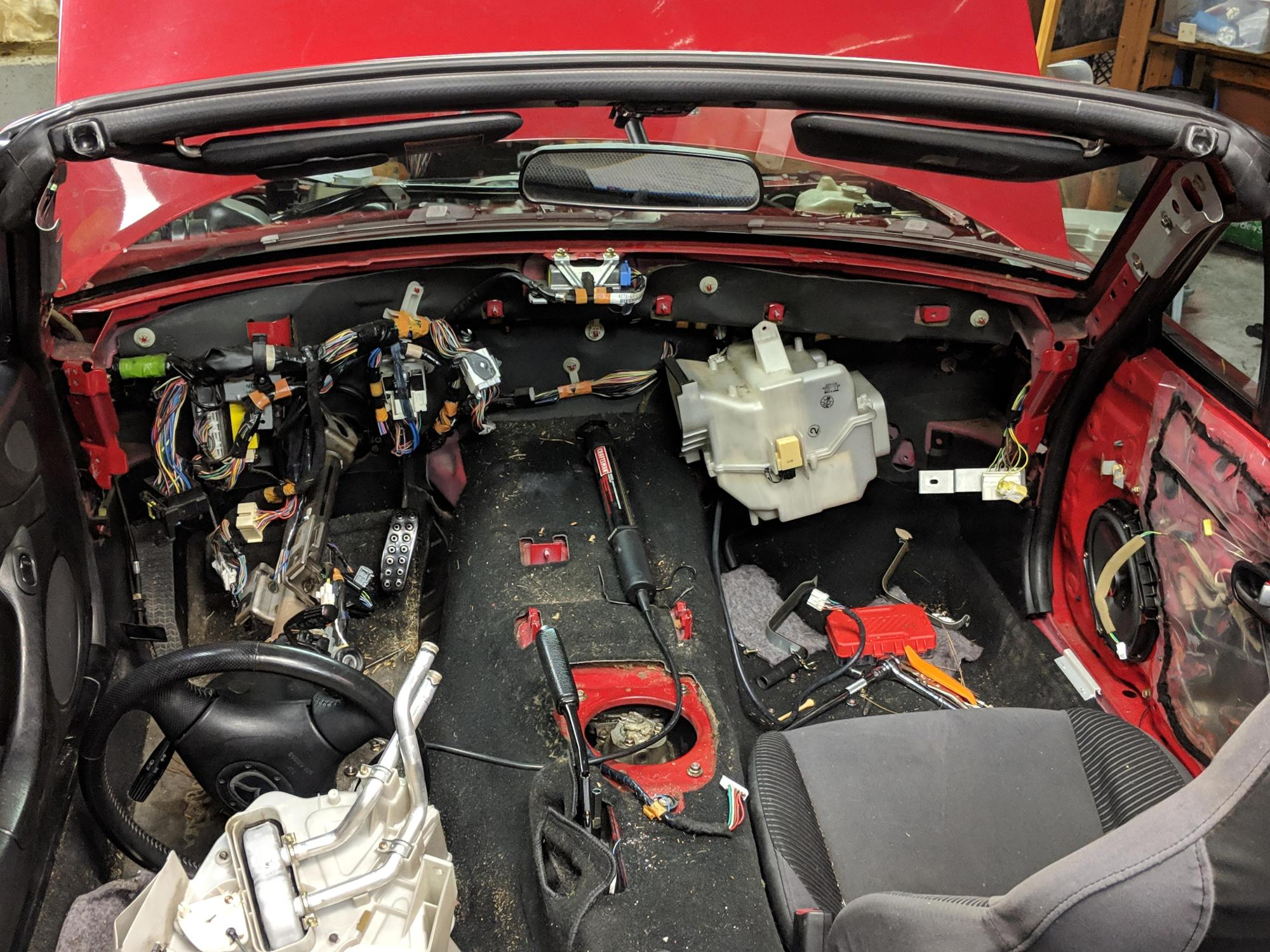 hight resolution of nb2005 nb replacing heater core mid progress chose to pull dash so i could clean ac coil and fan blower also tons of maintenance including foamectomy