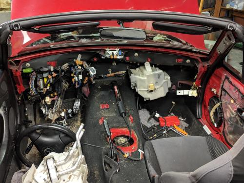 small resolution of nb2005 nb replacing heater core mid progress chose to pull dash so i could clean ac coil and fan blower also tons of maintenance including foamectomy