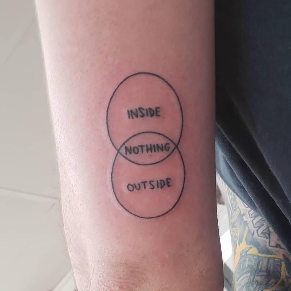 medium resolution of venn diagram stick and poke tattoo inspired by bojack done by hunter at hello hunter tattoo in sydney australia